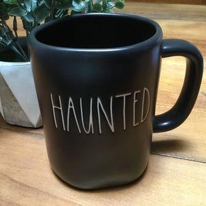 Rae Dunn HAUNTED Mug Matt Black NEW